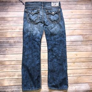 Mens True Religion Distressed Flap Pocket Jeans